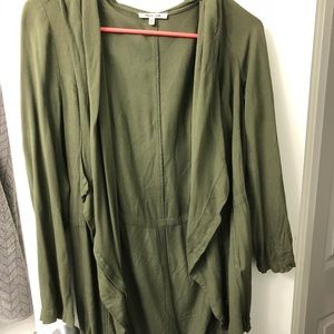 Green light drapey jacket